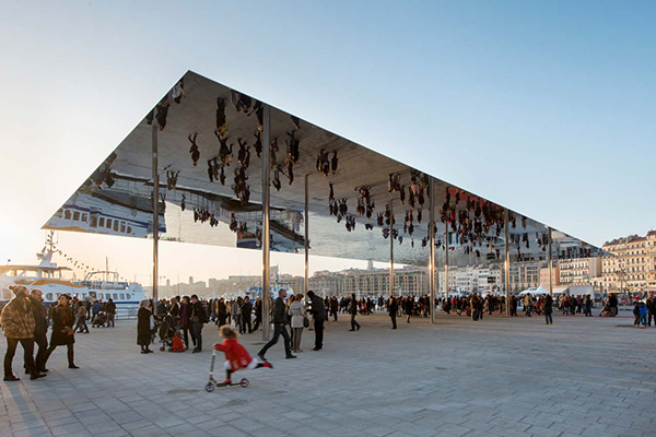 Mirror Canopy Designed by Foster and Partners at Marseille Vieux Port